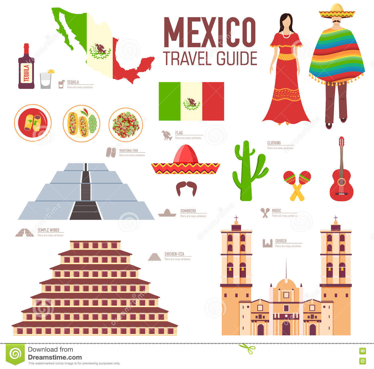 Country Mexico Travel Vacation Guide Of Goods, Places And ...