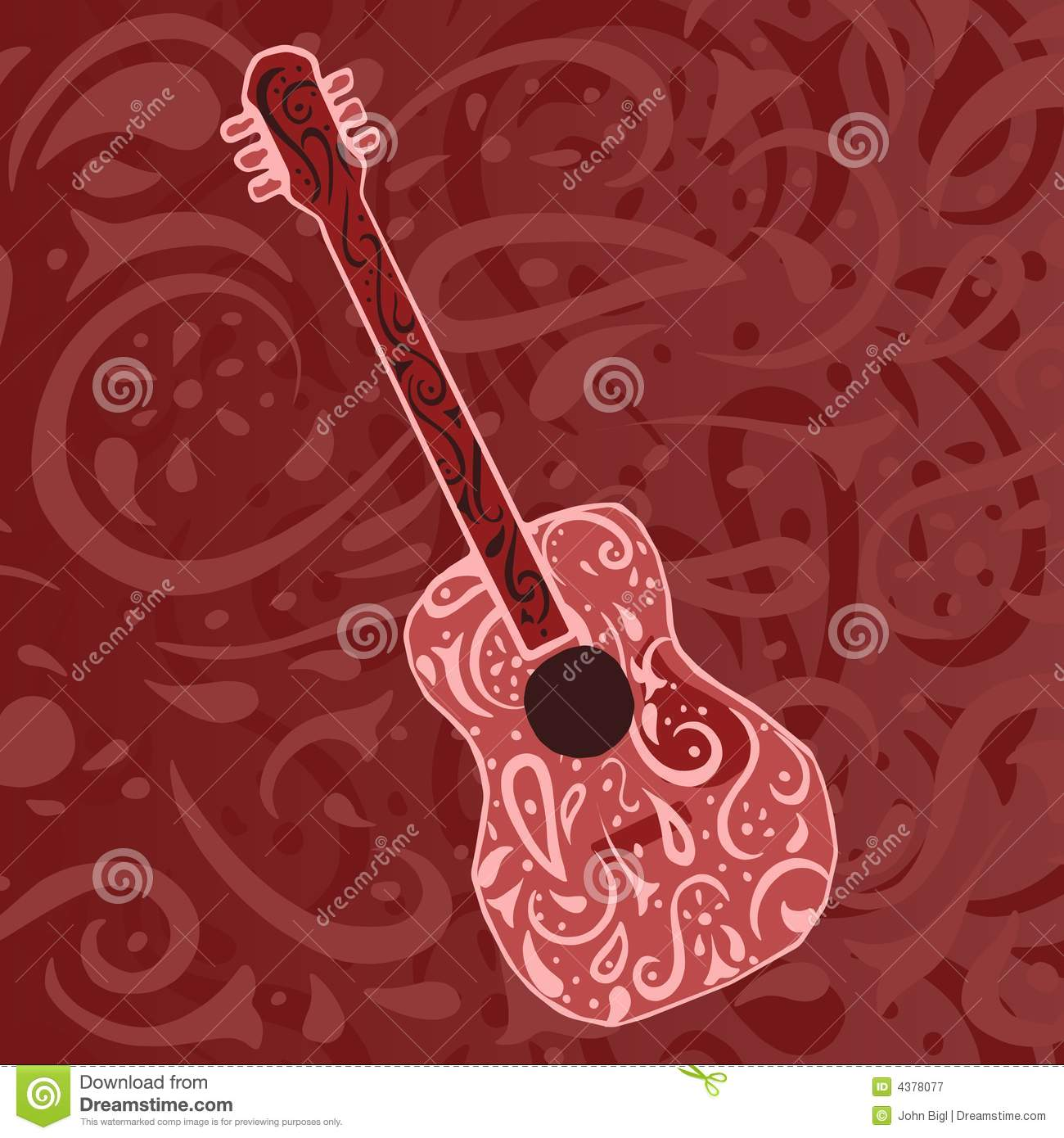 Country Music Wallpaper: Guitar Royalty Free Stock
