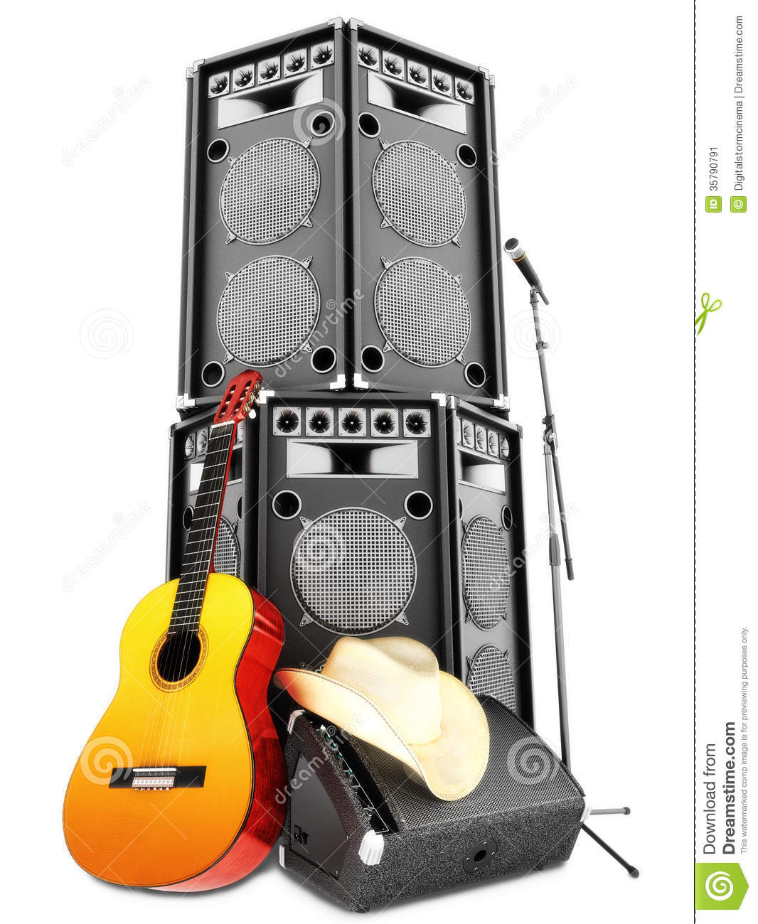 Country Music Wallpaper: Country Music Background Stock Illustration. Illustration