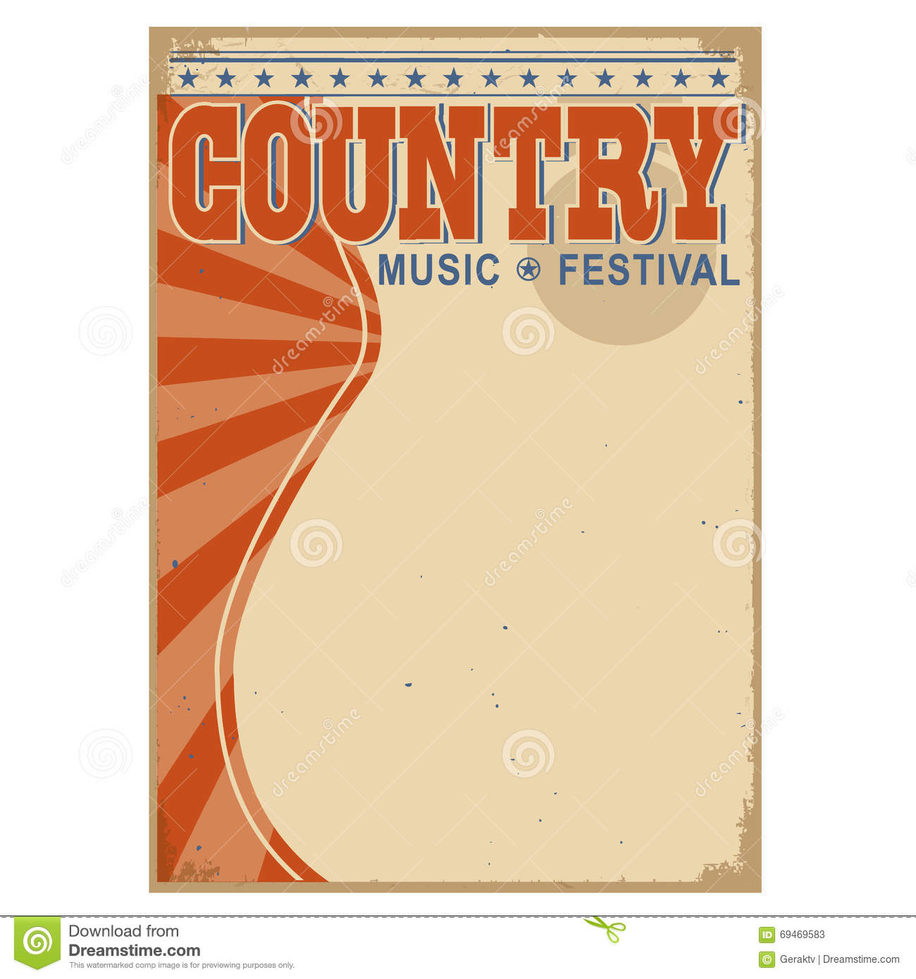 Country Music Wallpaper: Country Music Background With Text.Vector Old Poster Stock