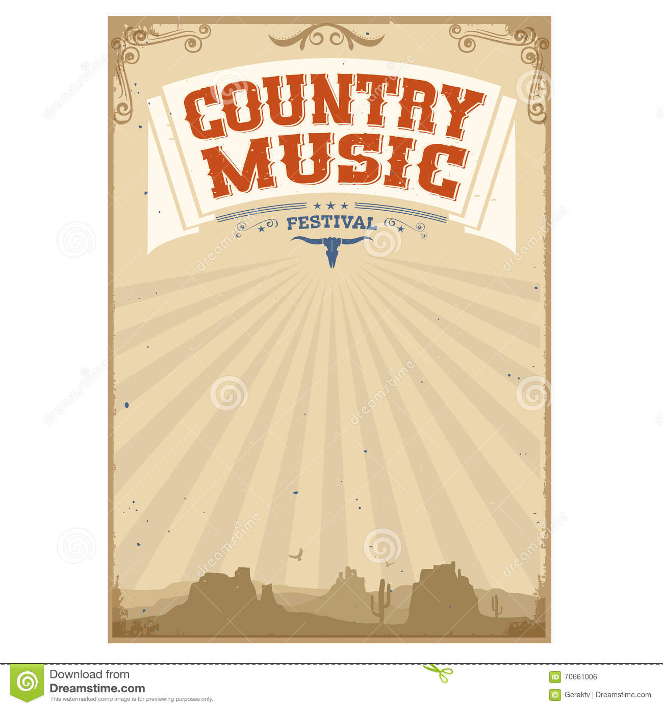 Country Music Wallpaper: Country Music Festival Background With American Landscape