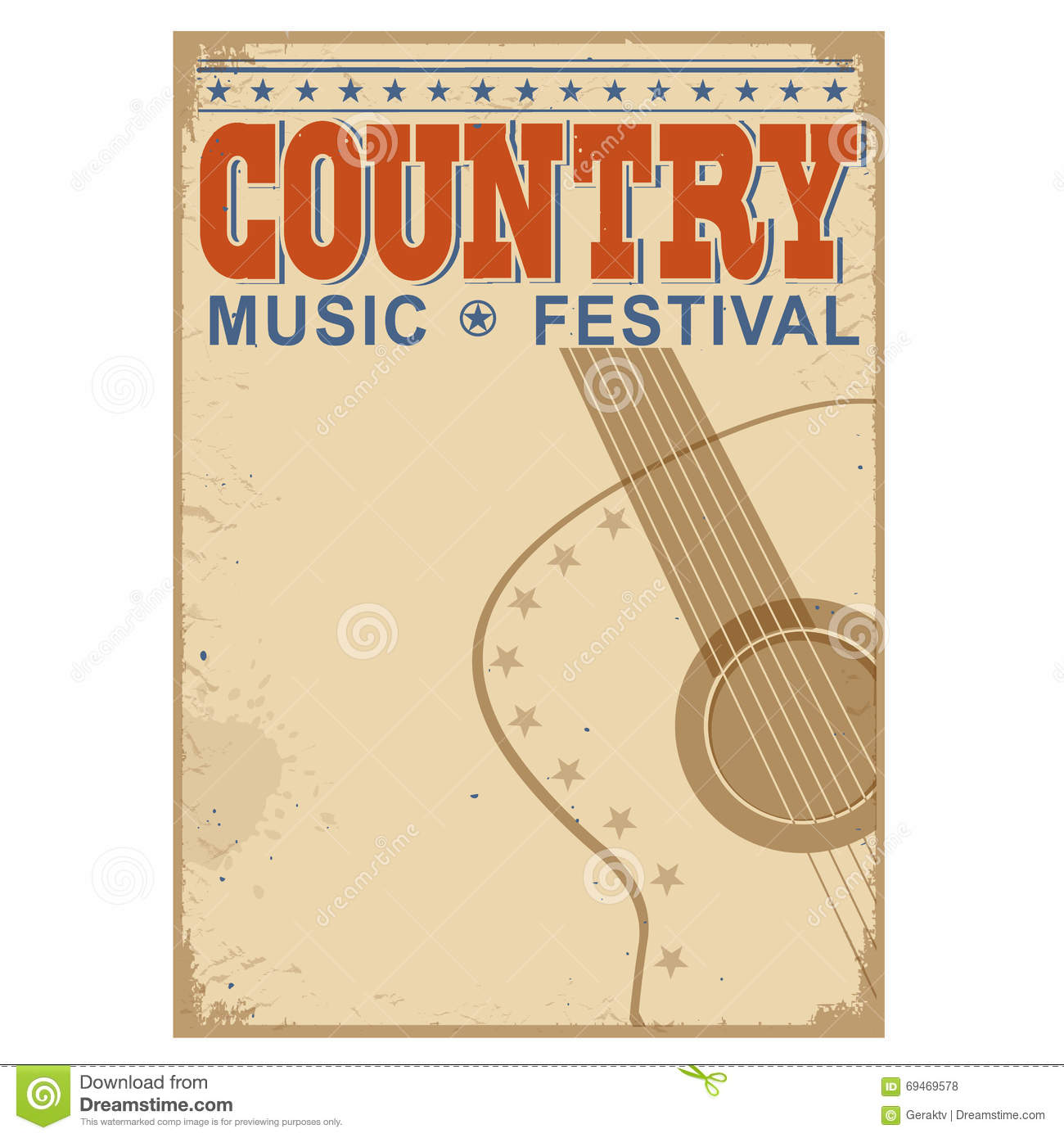 country music festival background with textvector old