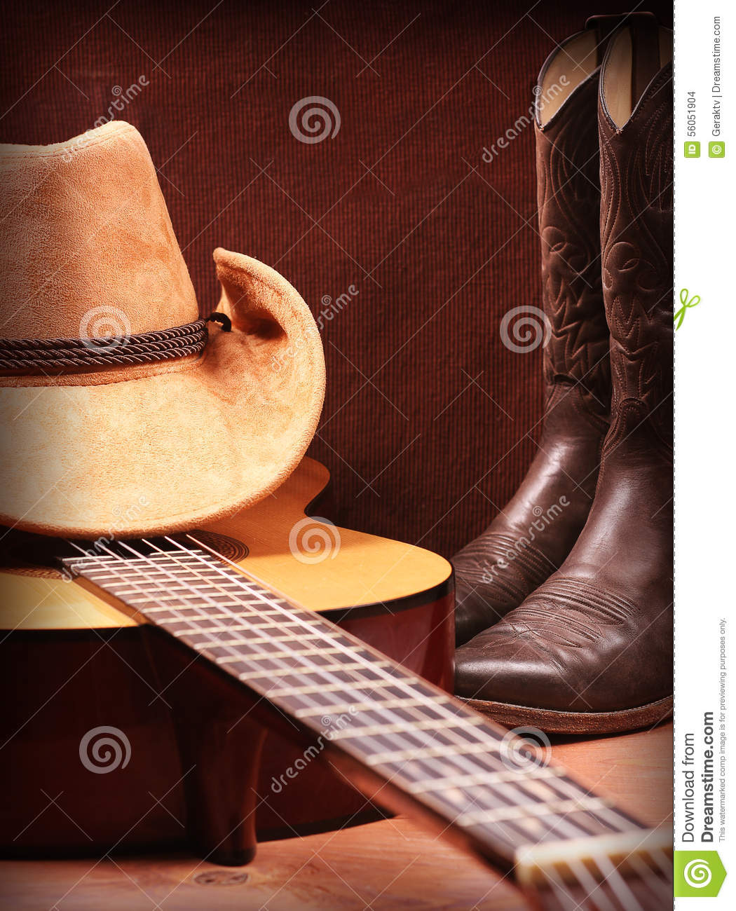 Country Music Wallpaper: Western Background With Cowboy Clothes And Old Paper For