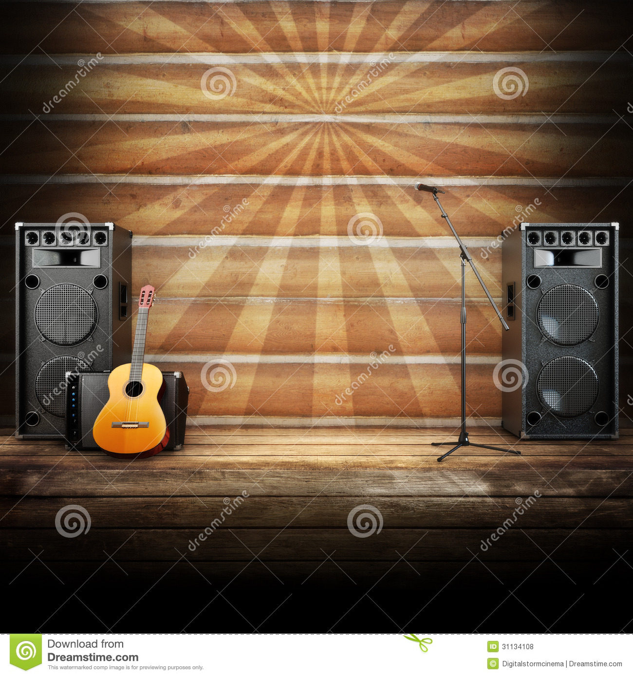 Country Music Stage Or Singing Background Royalty Free ...