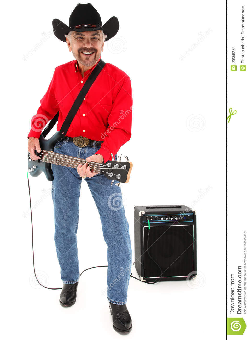 5d0a0787381ea Country Musician Age 75 With Electric Guitar Stock Photo - Image of ...