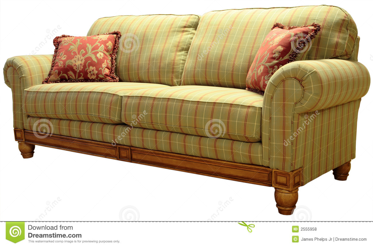 Country plaid sofa stock photo image of decorating for Englische sofas