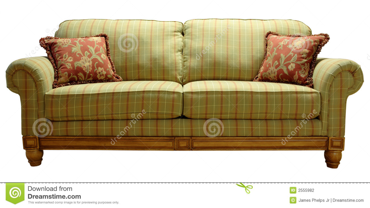 Country Plaid Sofa Stock Photo Image Of Home Design 2555982