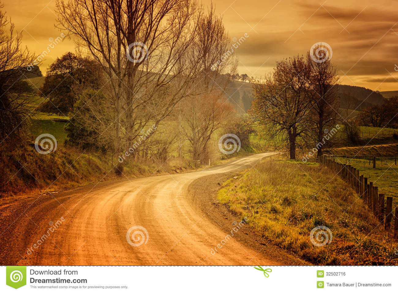 Country road in Australia