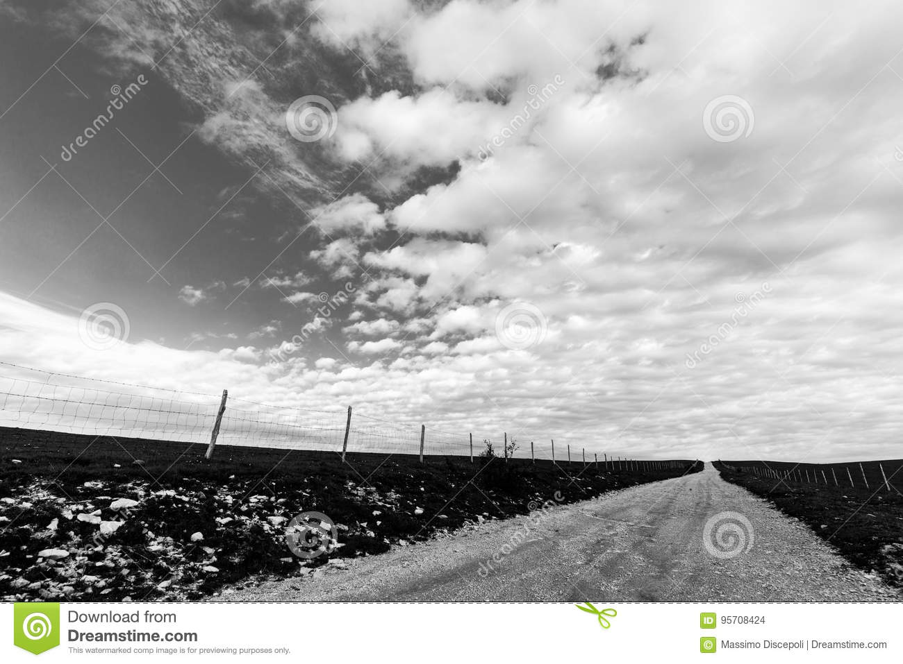 Country road and big sky