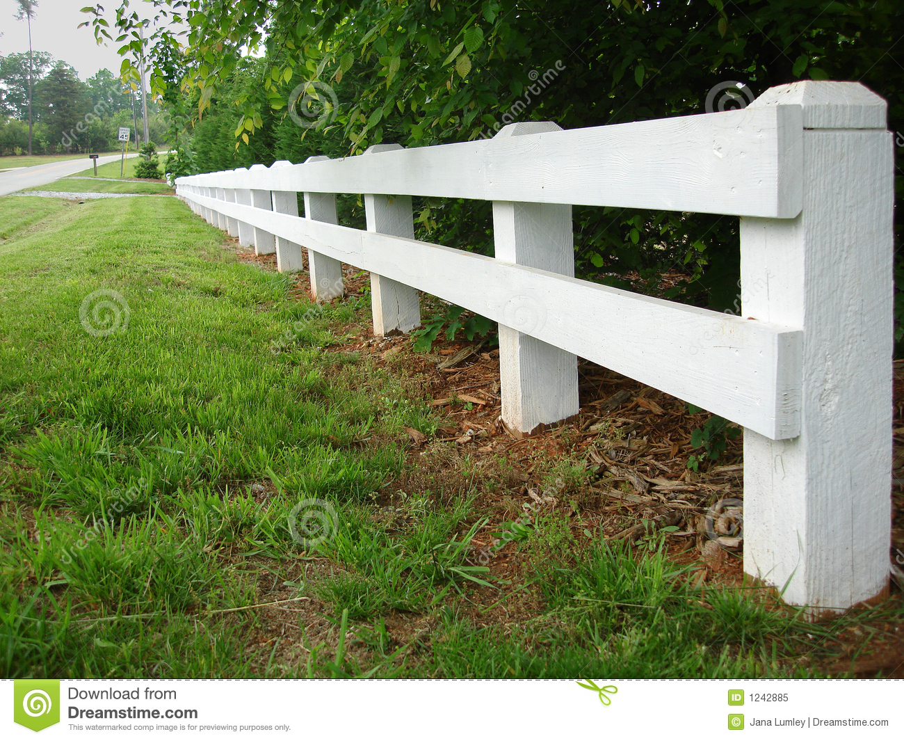 Country road fence royalty free stock photo image