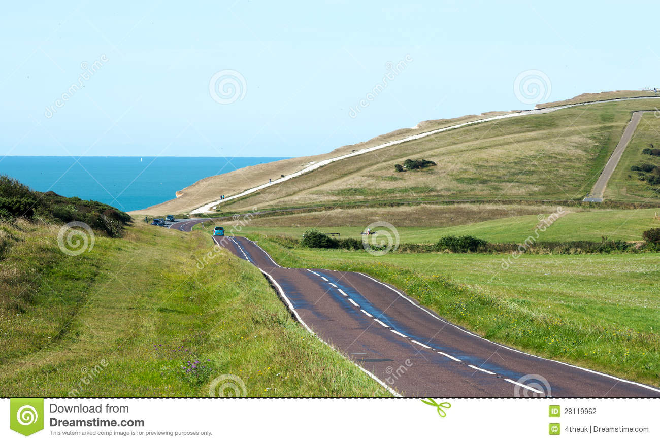 Download Country Road Leading To The Coast Stock Photo - Image of exploration, horizon: 28119962