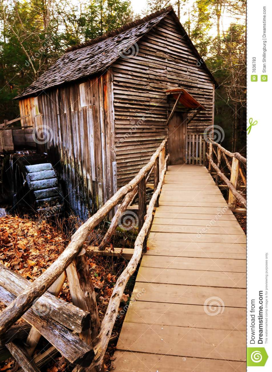 Download Country Rustic Mill Waterwheel Stock Image - Image of national, historic: 7636783