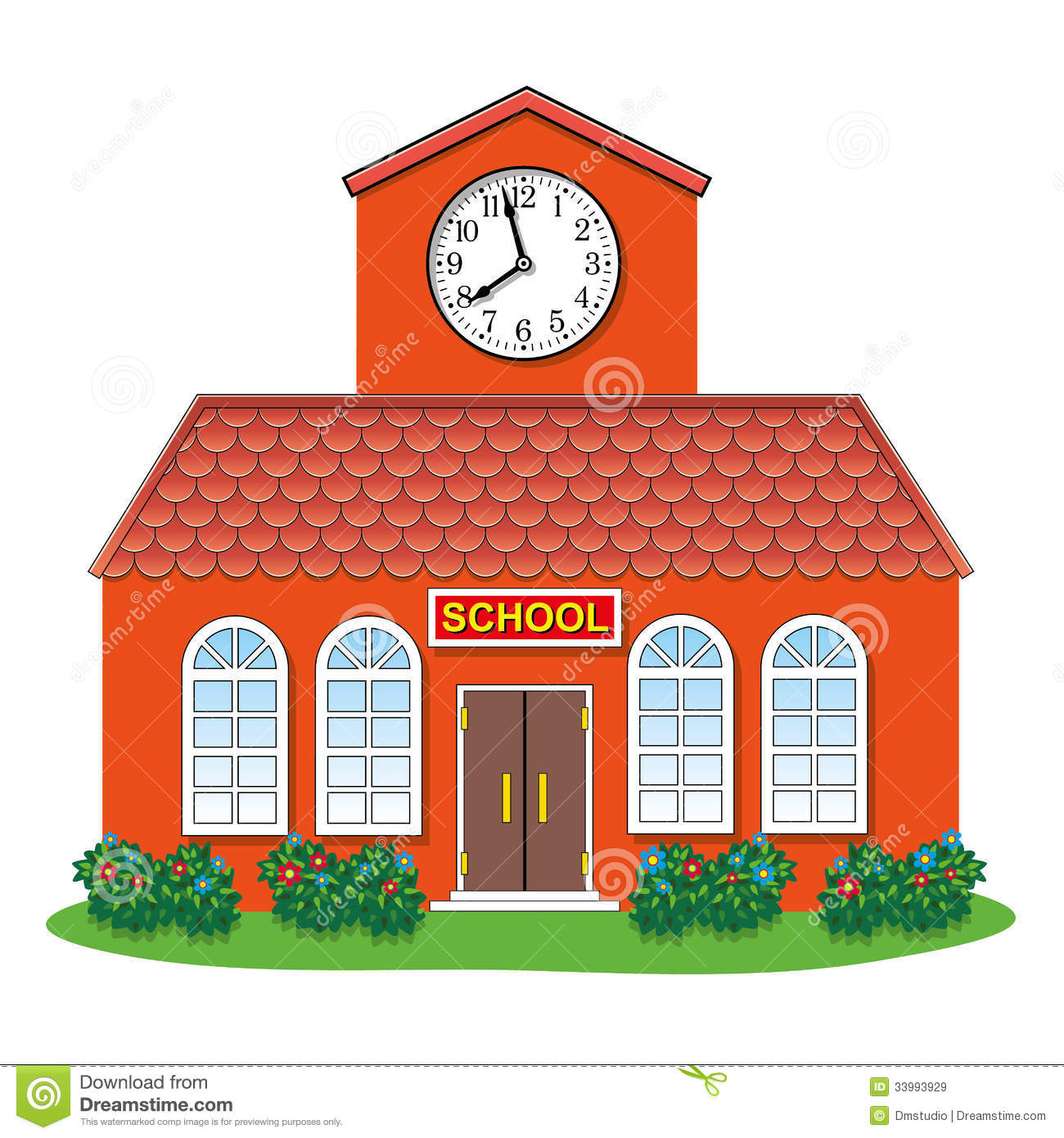 Vector Country School Building Royalty Free Stock Images - Image ...