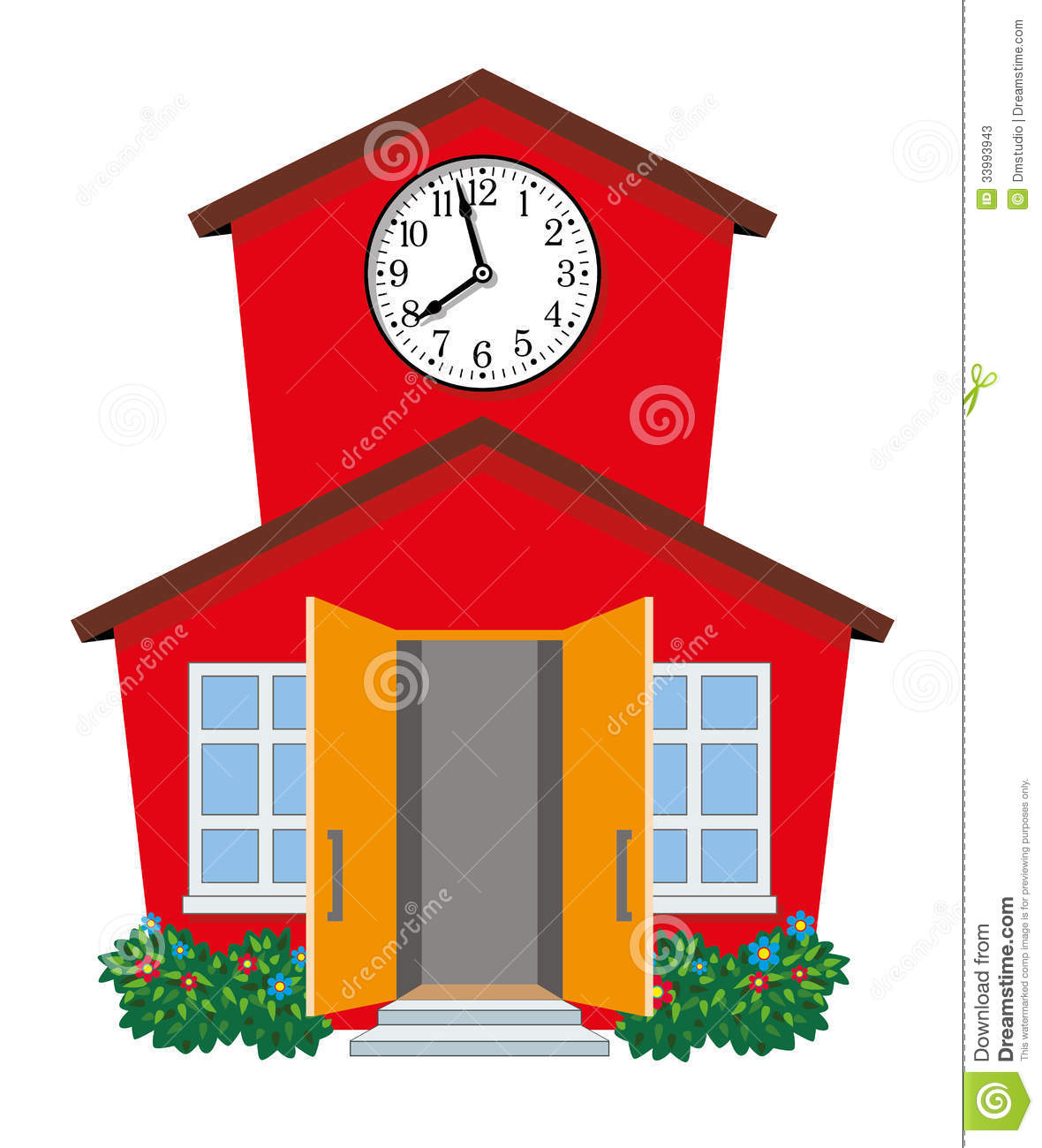 vector country school building stock vector illustration brush clip art with no background bush clipart png