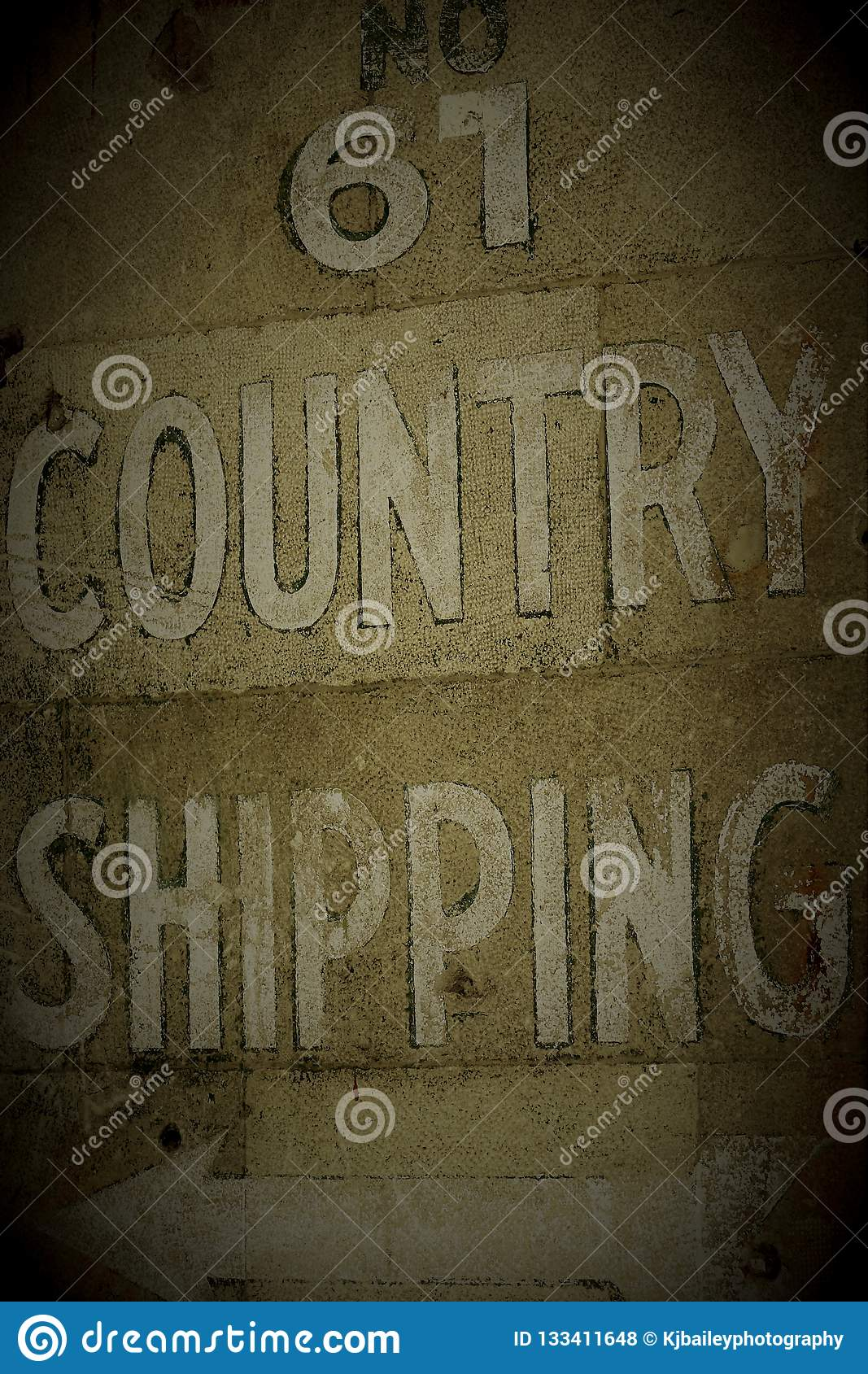 COUNTRY SHIPPING SIGN