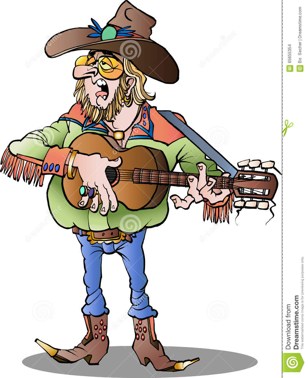 Country Singer Male Stock Vector - Image: 65655354