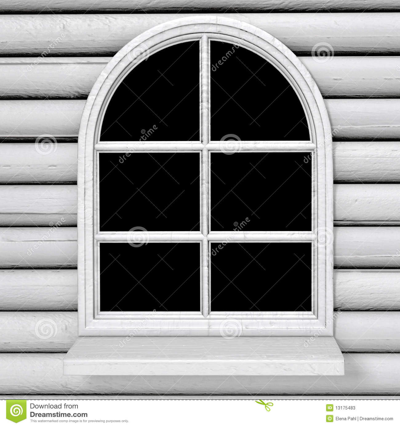 Country Style Windows : Country style window stock illustration image of frame
