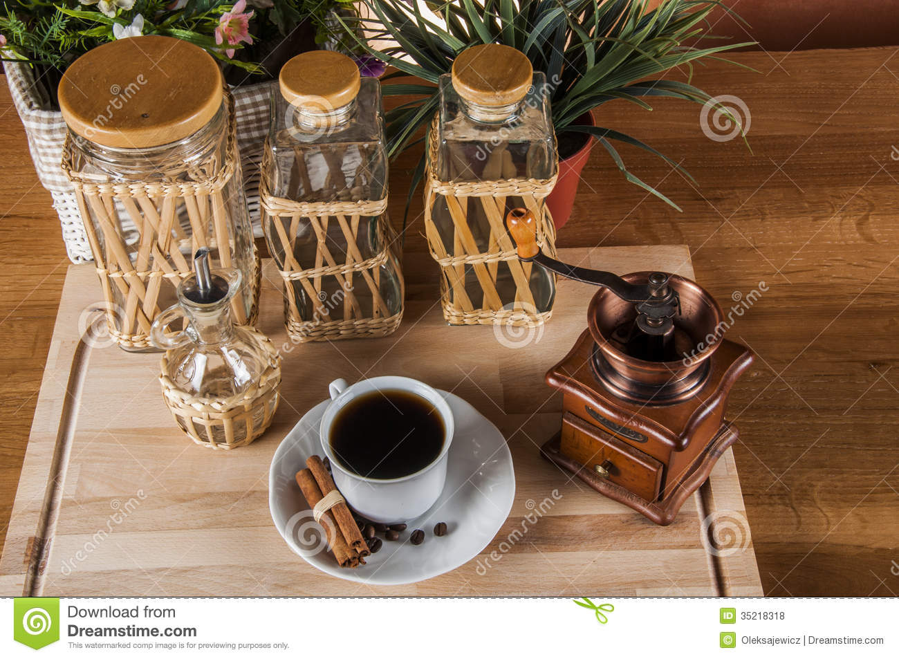 Free Illustrations Country Kitchen Coffee On The Table