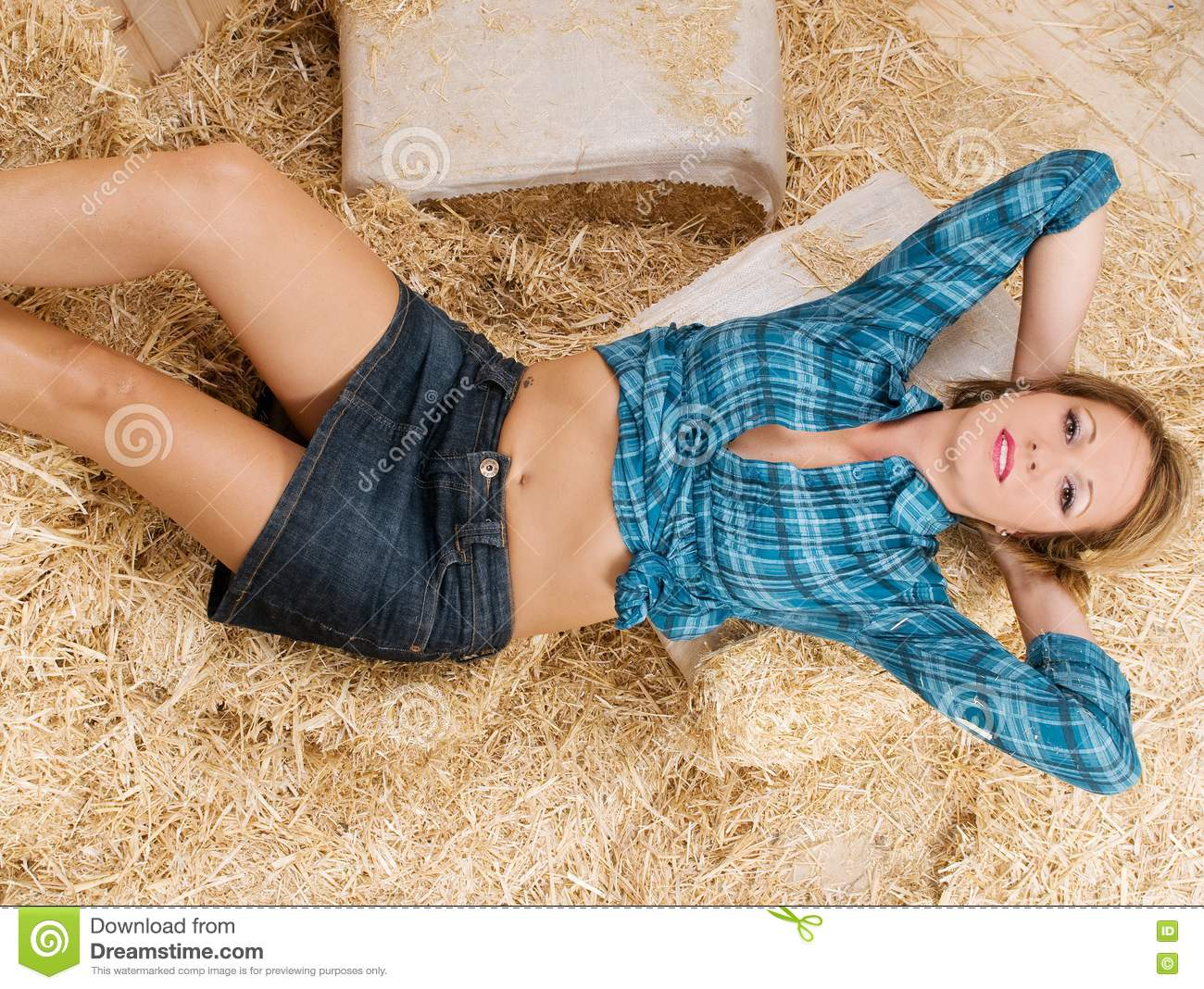 Country Woman In A Barn Stock Image Image Of Beauty
