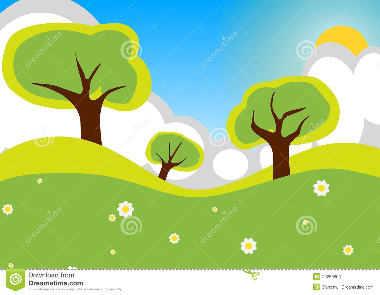 Countryside Cartoon Stock Illustration Illustration Of Cloudy 29258803 Popular cartoon tree of good quality and at affordable prices you can buy on aliexpress. dreamstime com