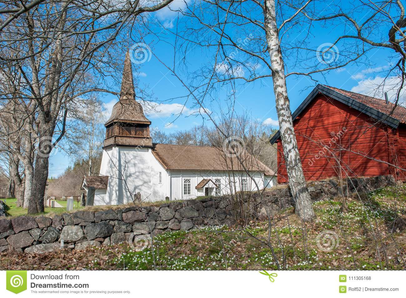 Countryside Church During Spring In Sweden Editorial Stock Photo ... 197dc1b22