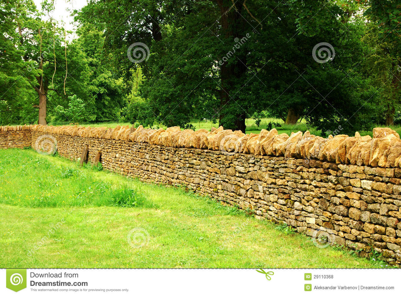 Countryside garden stone wall royalty free stock photos image 29110368 - Countryside dream gardens ...