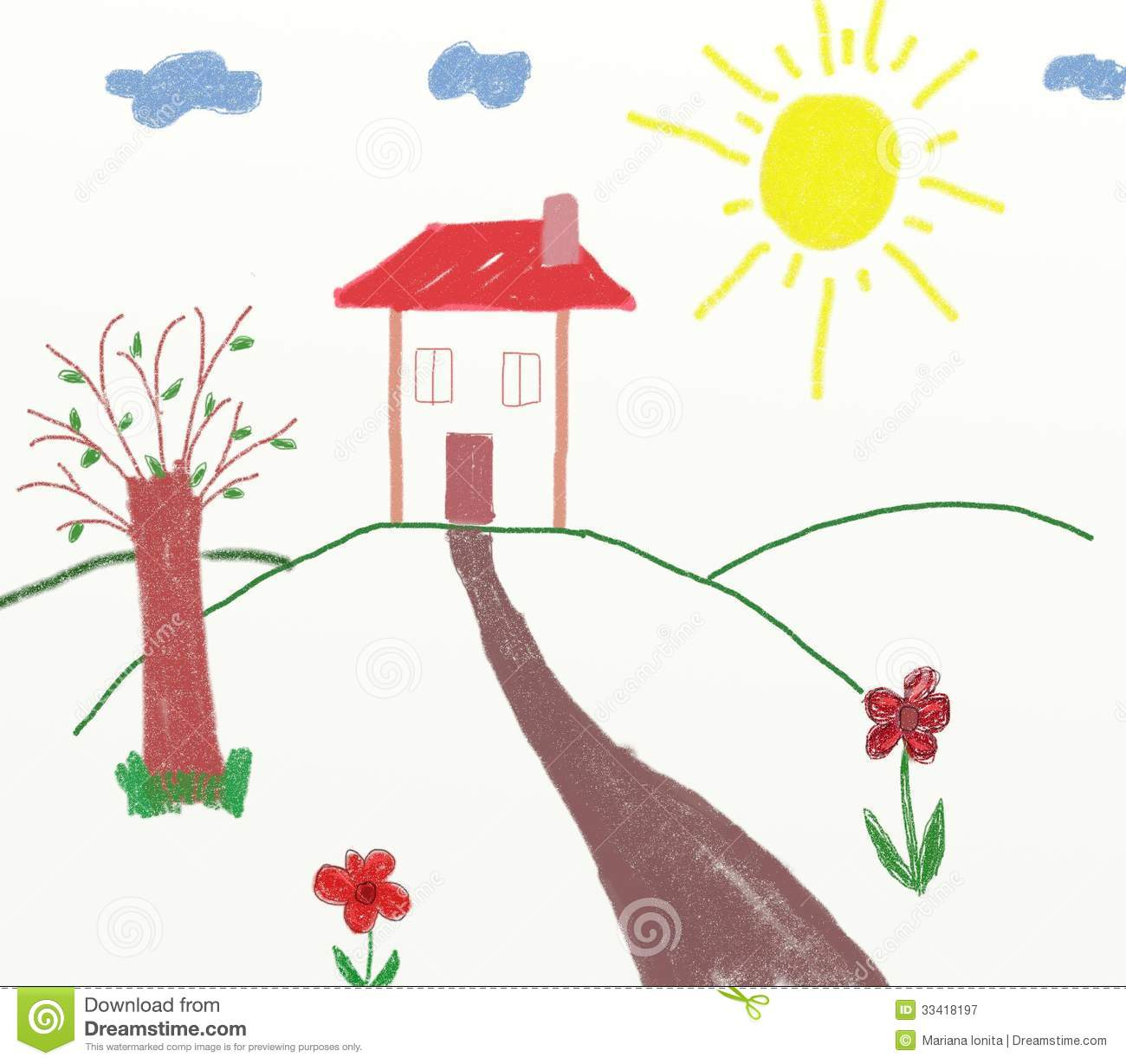children countryside drawing