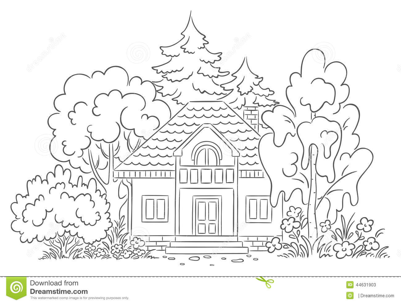 Countryside house stock vector illustration of architecture 44631903