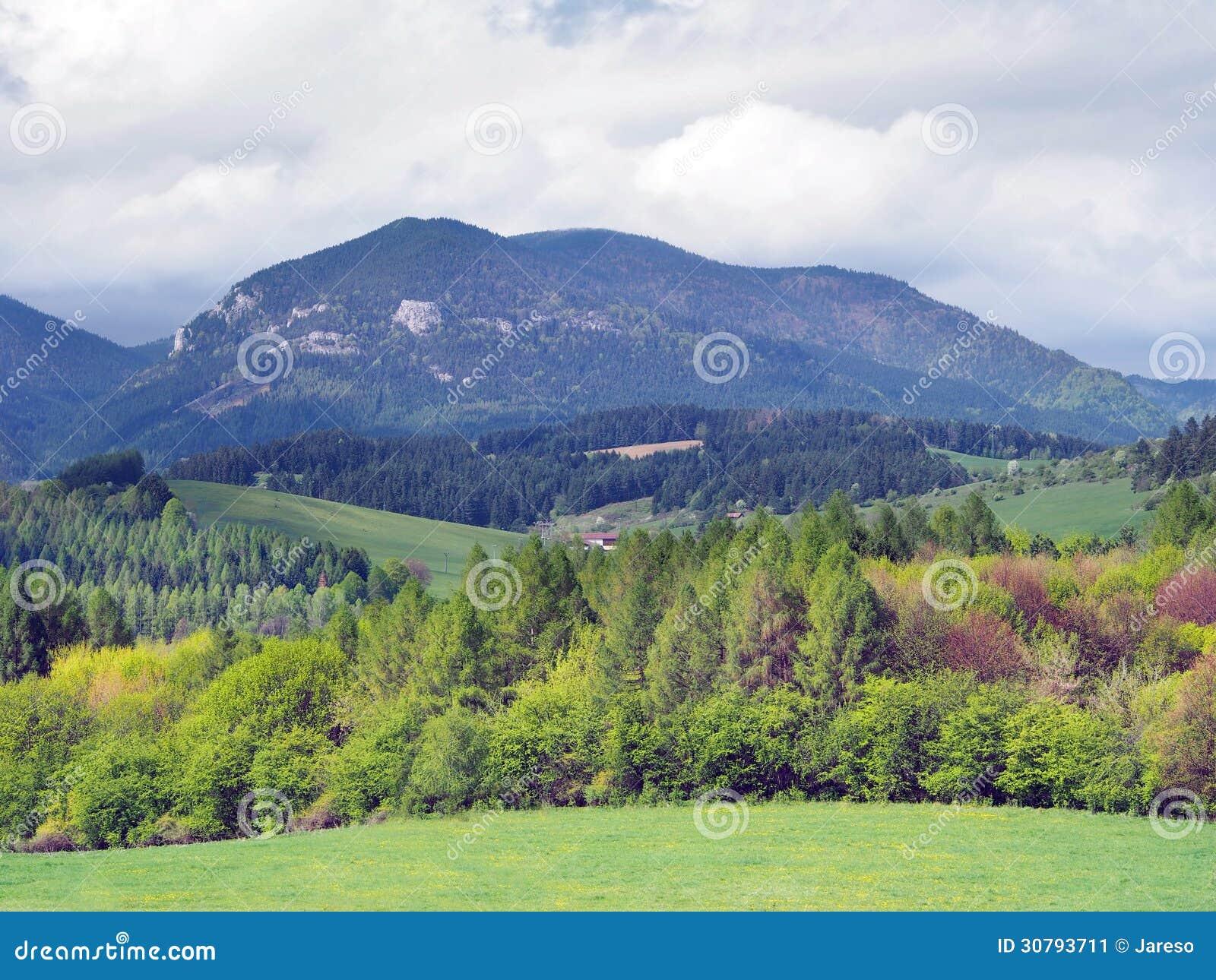 Countryside with Lomy hill near Bobrovnik
