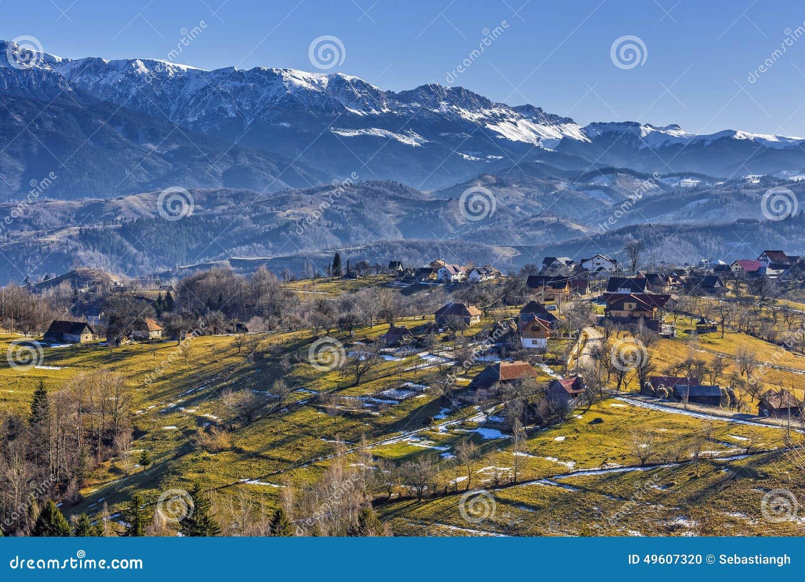Countryside mountain landscape stock photo image 49607320 for Romania landscape
