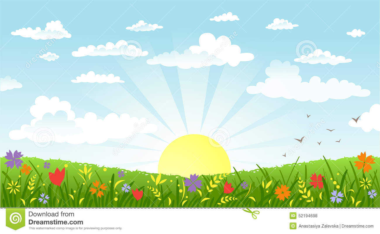 Countryside Panorama In The Morning Stock Vector ...