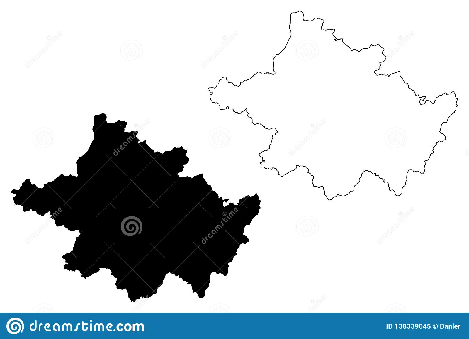 Map Of Counties Of Northern Ireland.County Tyrone Map Vector Stock Vector Illustration Of Northern