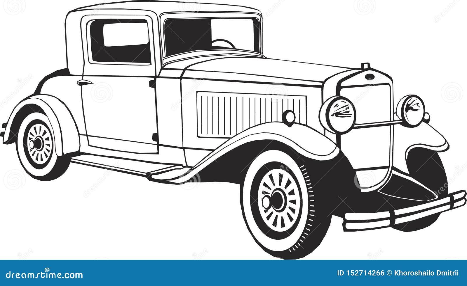 Coupé classique de voiture, art de vecteur, monogramme, d isolement, noir, graphique, illustration de vecteur, logo, clipart (ima