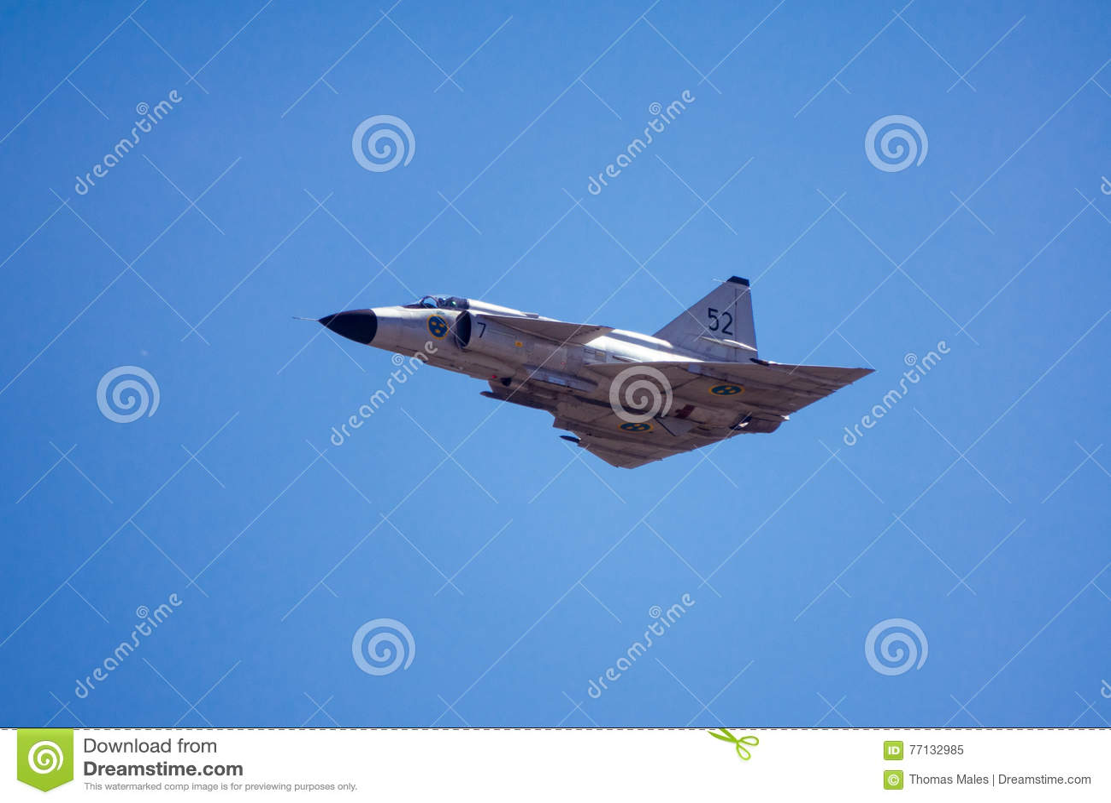 Coup de foudre de Saab 37 Viggen