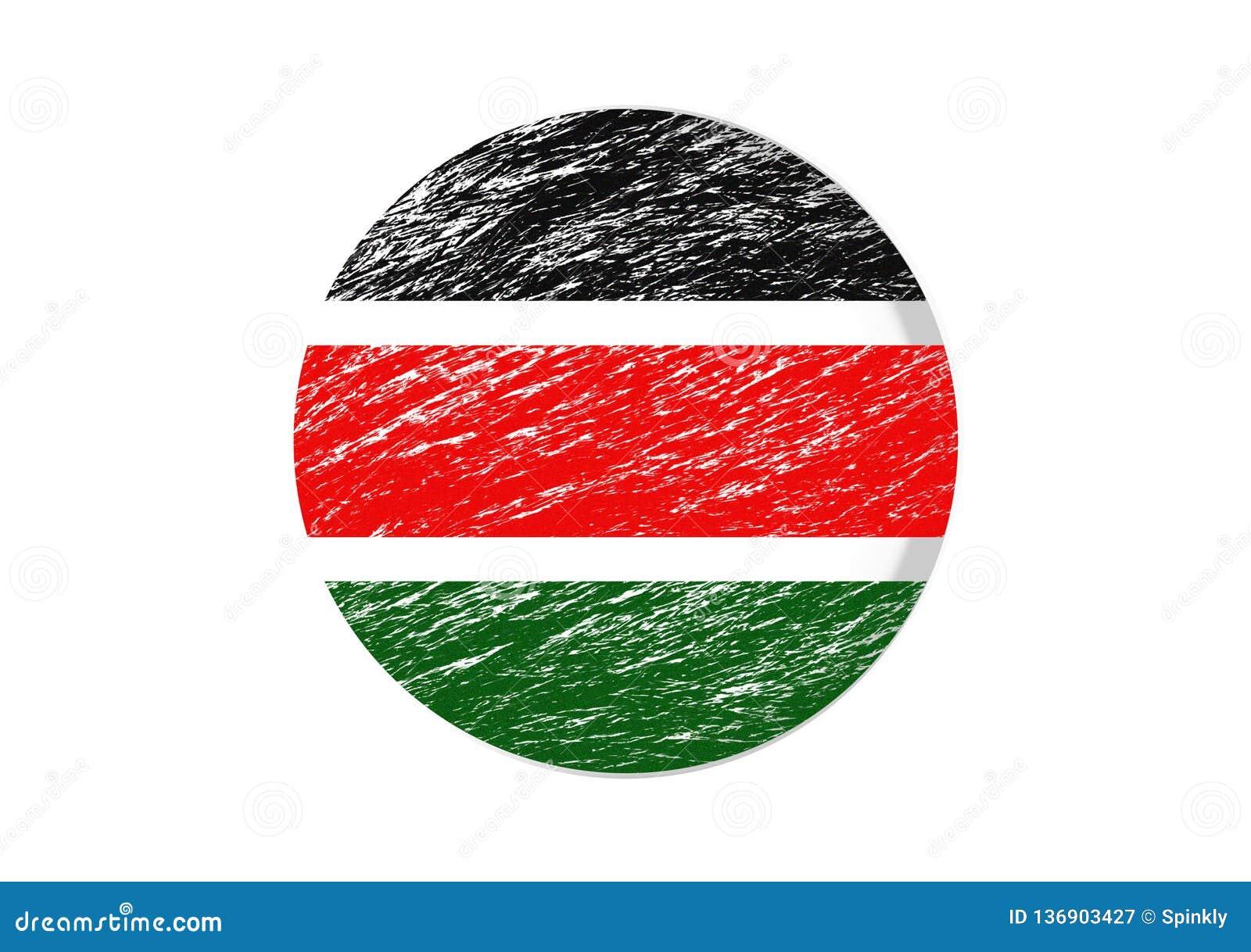Coupe circulaire colorée par drapeau kenyan
