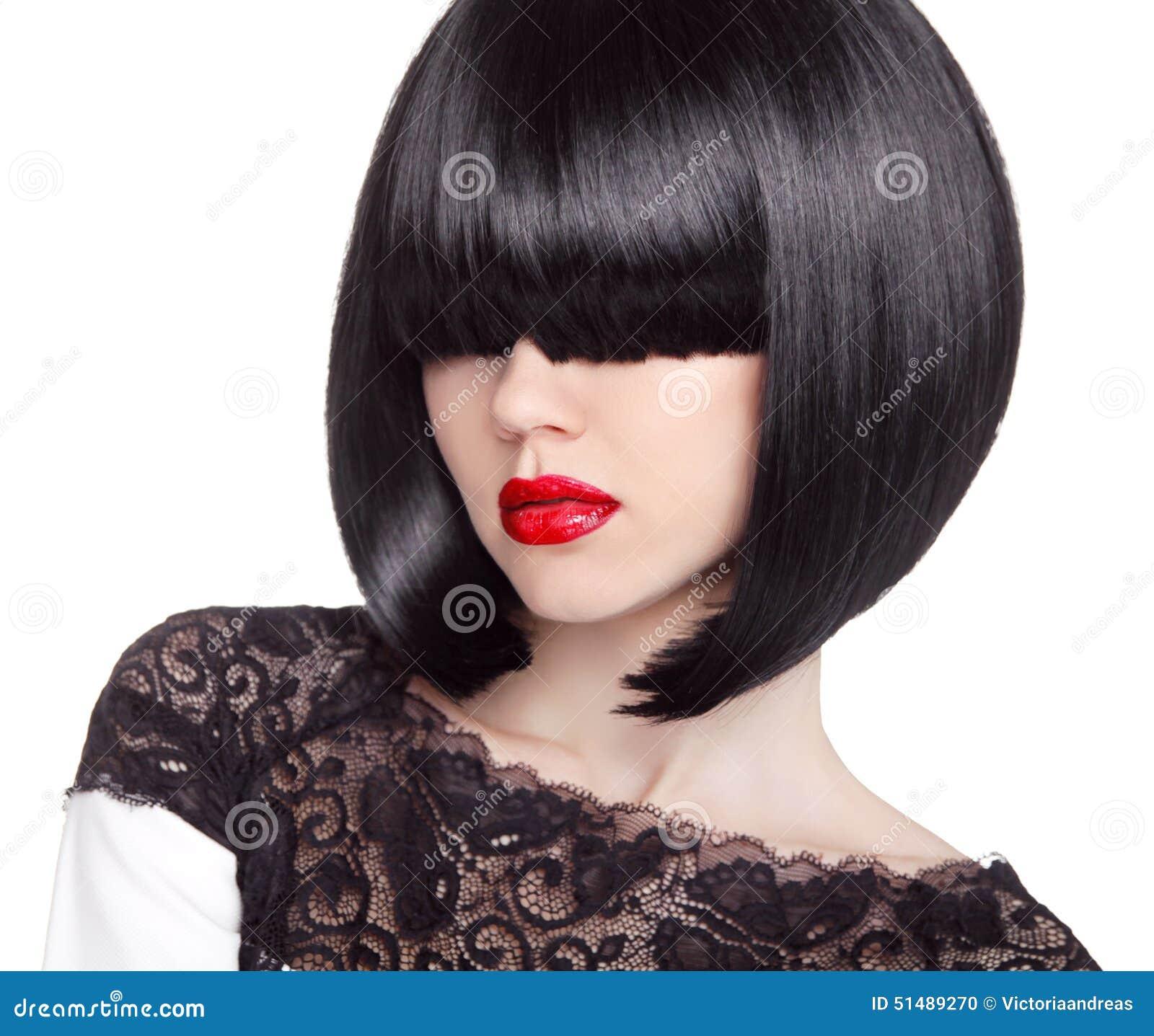 Coupe De Cheveux De Plomb De Mode Coiffure Longue Frange Type De ...