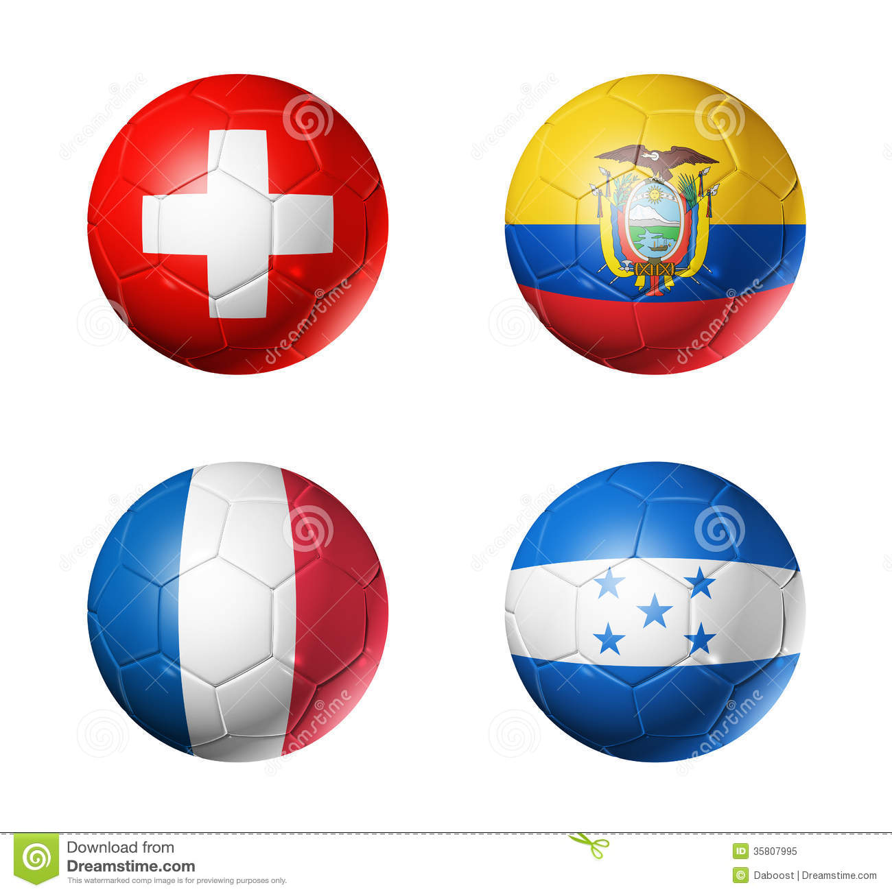 Coupe du monde du br sil drapeaux de 2014 groupes e sur le ballon de football photo libre de - Groupe france coupe du monde 2014 ...