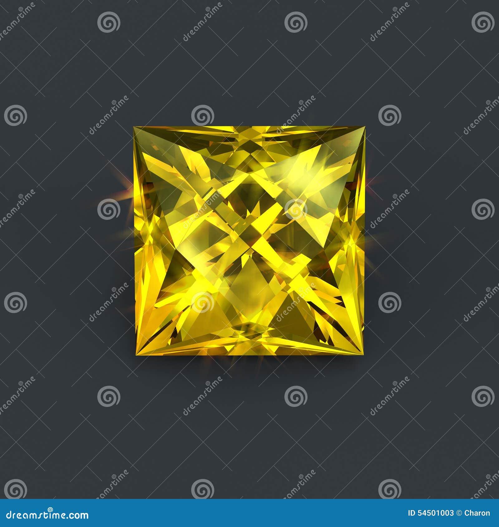 Coupe jaune citron de place de gemme
