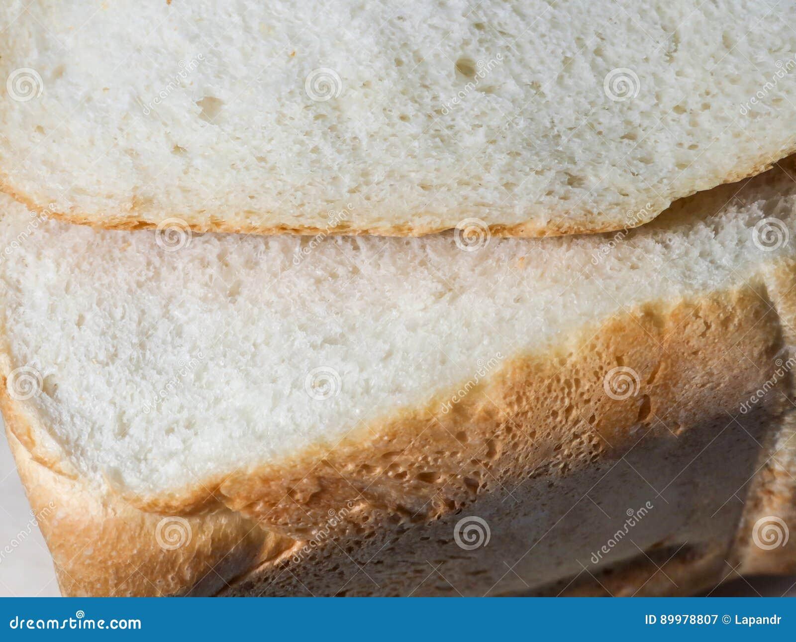 Coupez le pain frais Miette de pain blanc