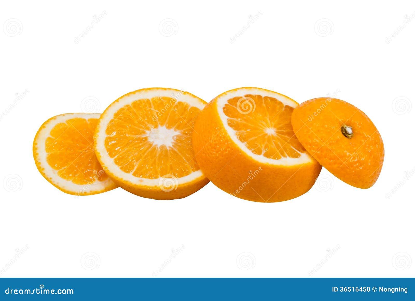 Coupez les oranges