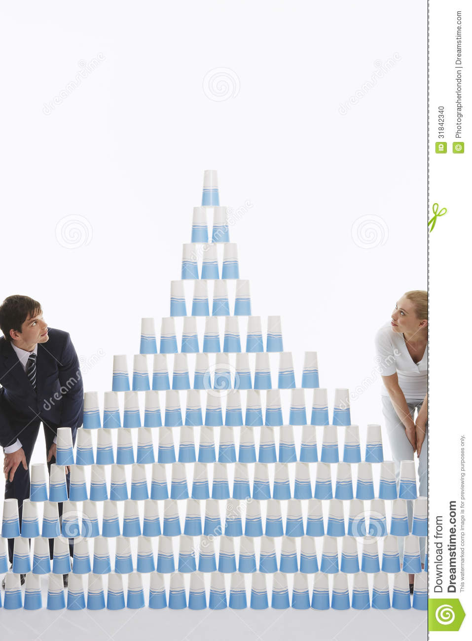 Stack Of Plastic Cups