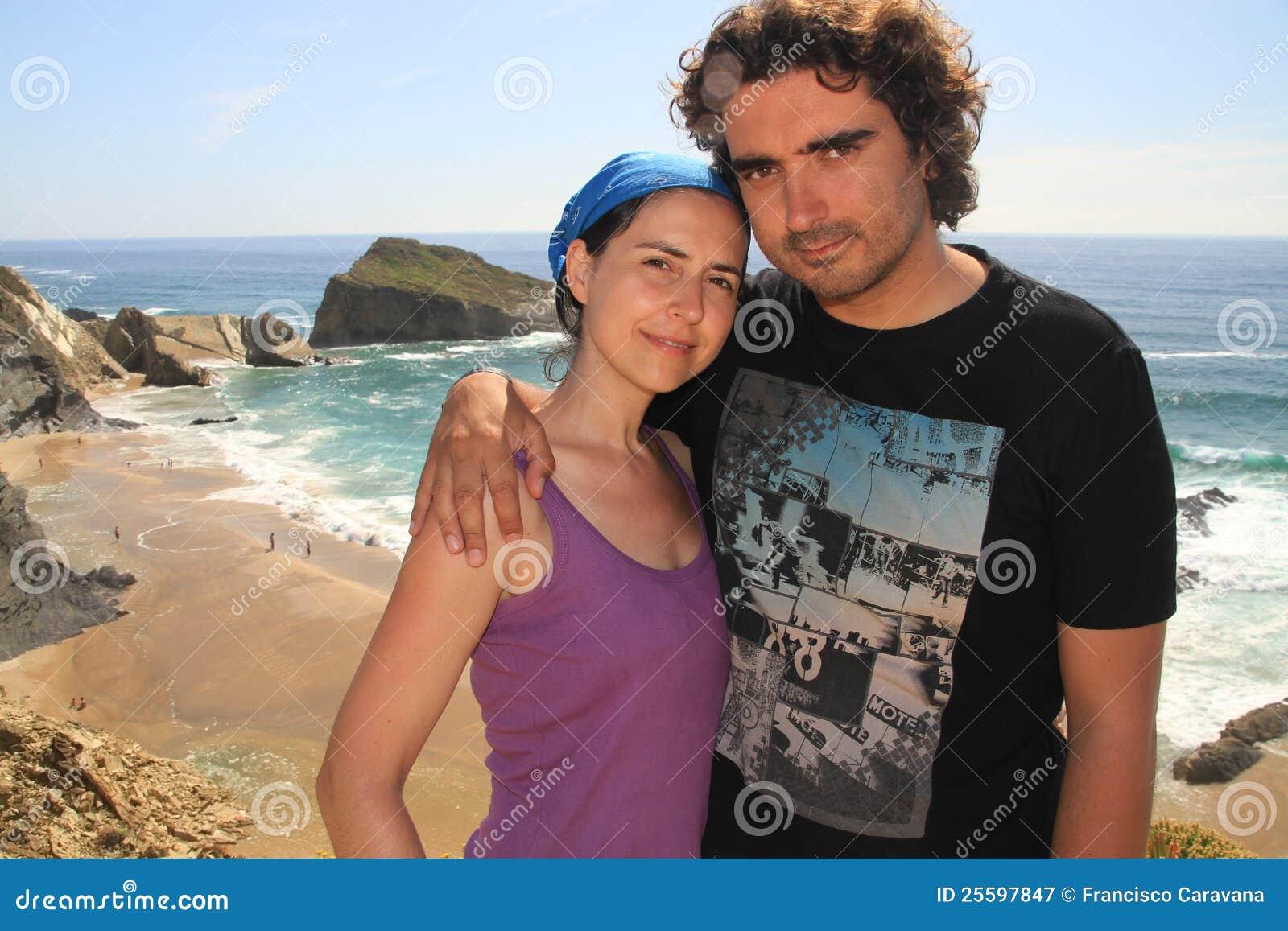 Couple and Alteirinhos beach