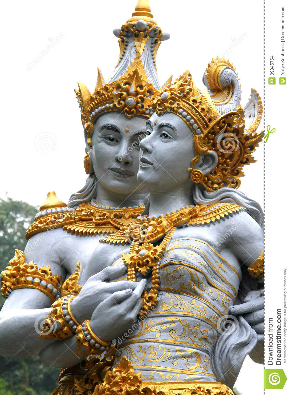 Couple Of Balinese Gods Stock Photo Image Of Exterior