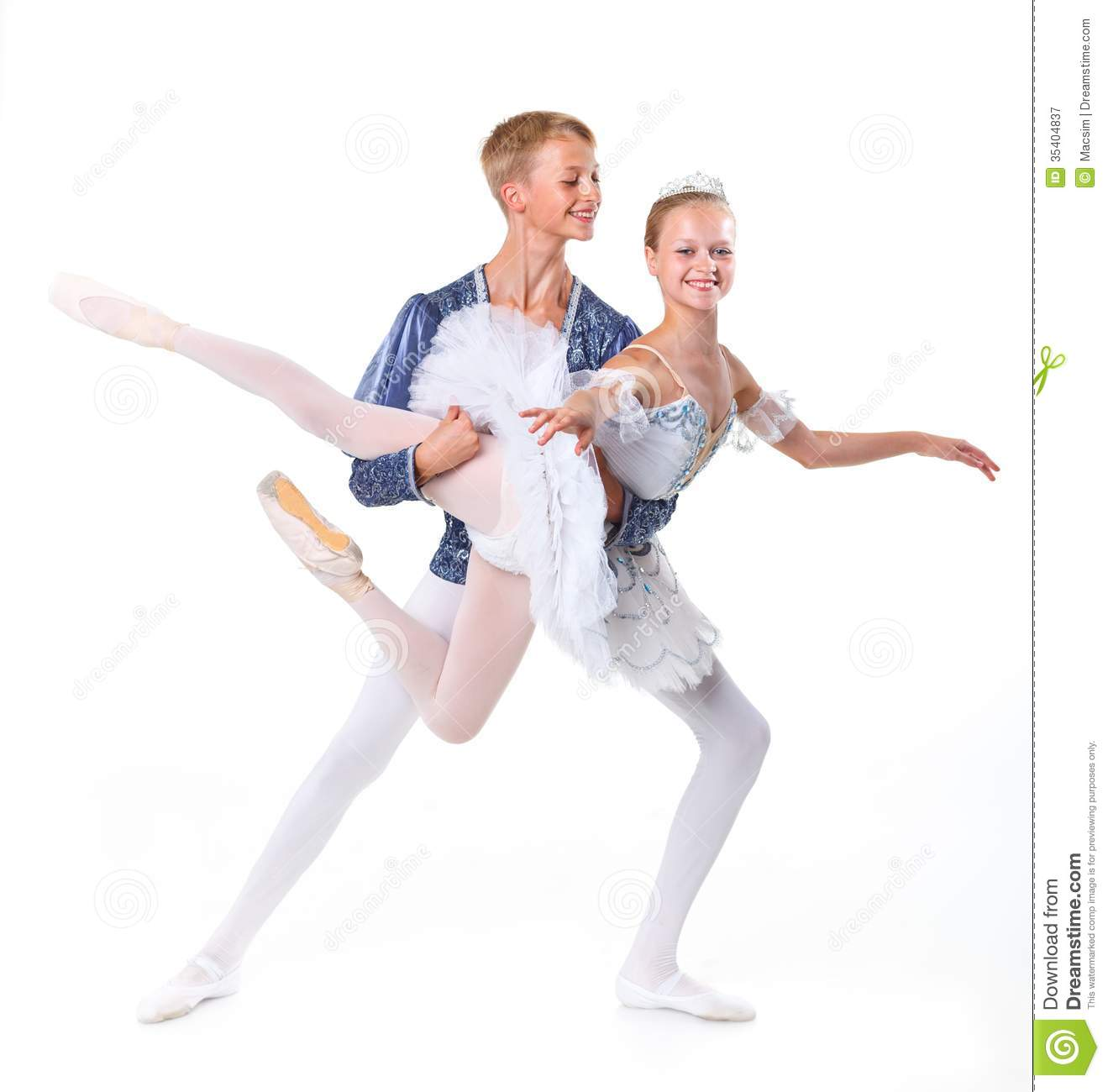 Couple Of Ballet Dancers Posing Royalty Free Stock Photography - Image ...
