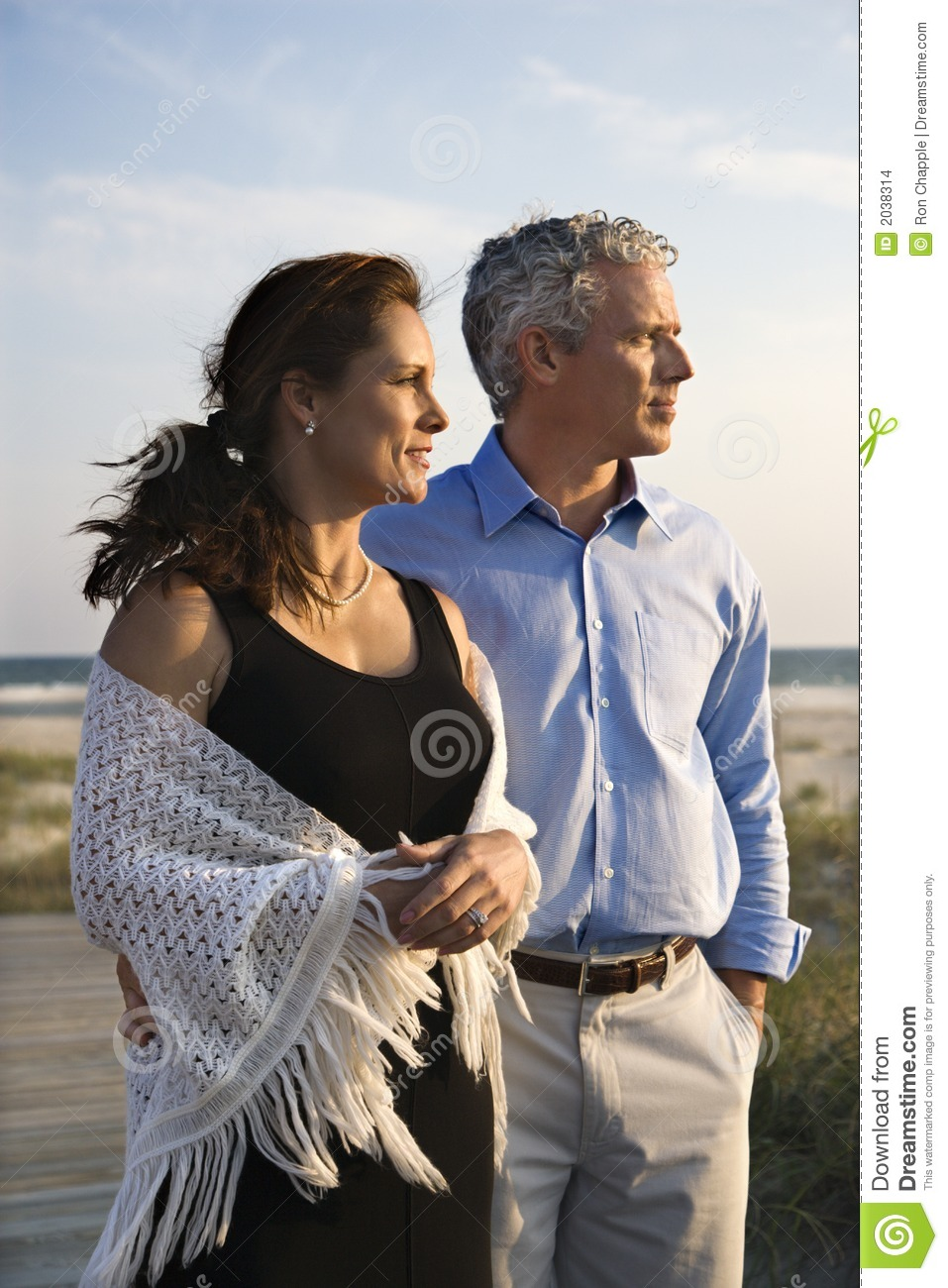 Couple at beach.