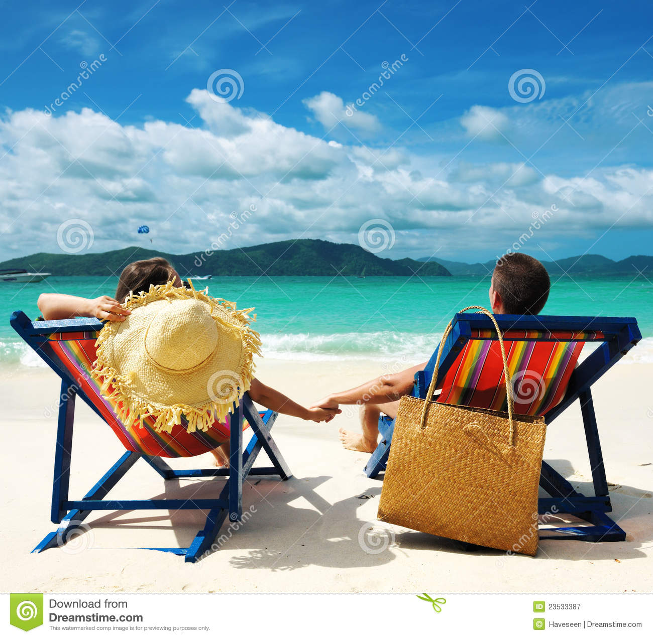 Couple At The Beach Stock Image Image Of Caucasian: Couple On A Beach Stock Image. Image Of Tanned, Remote