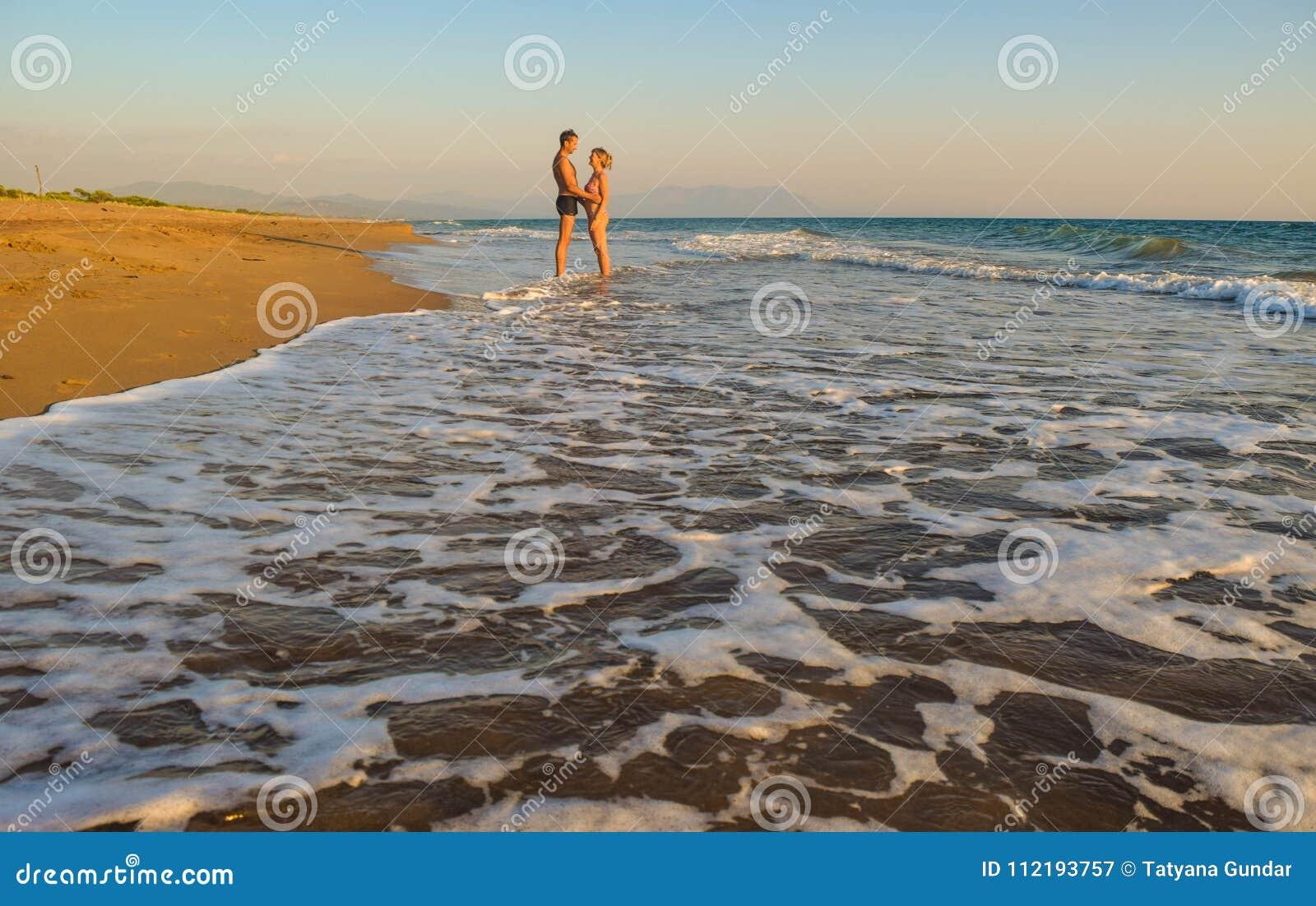 The couple on the beach.
