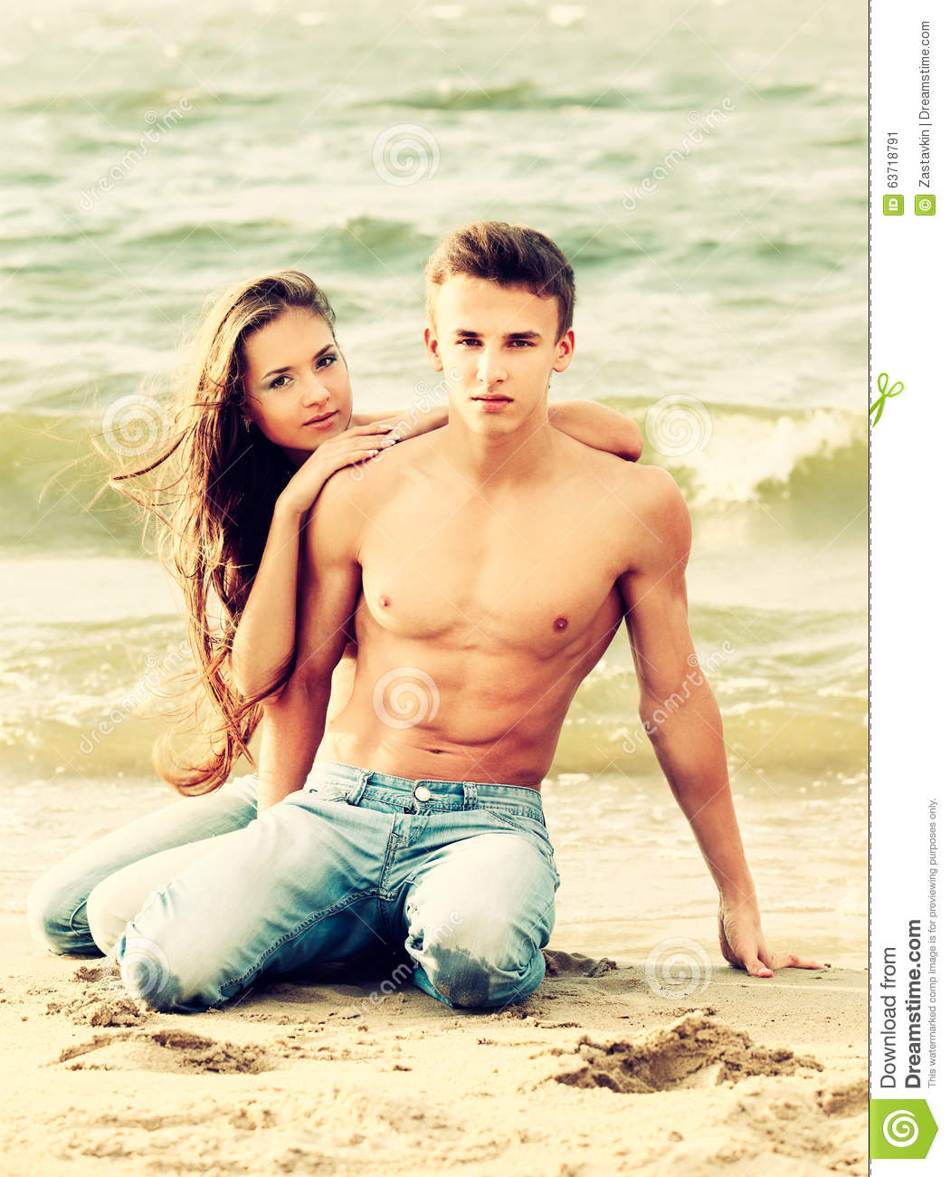 Couple At The Beach Stock Image Image Of Caucasian