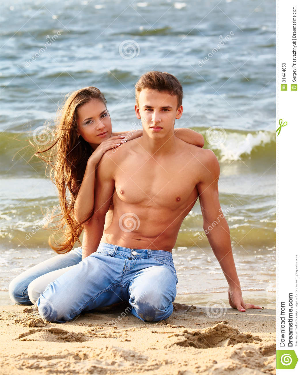 Couple At The Beach Stock Image Image Of Caucasian: Couple At The Beach Stock Photos