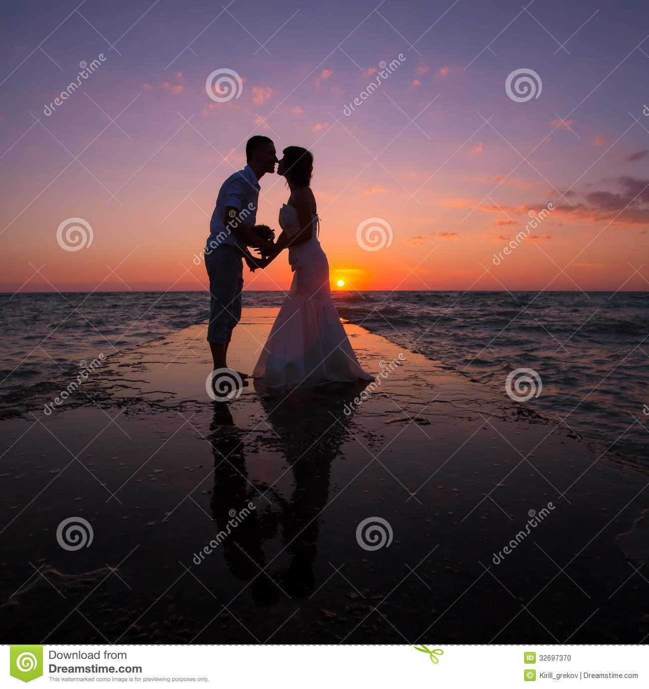 Couple On The Beach Stock Photo. Image Of Outdoor, Loving